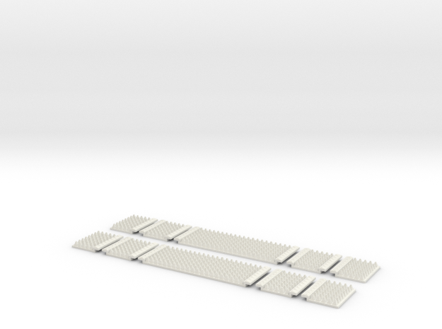 Polymer Anti-trespass Panels (Setrack) in White Strong & Flexible