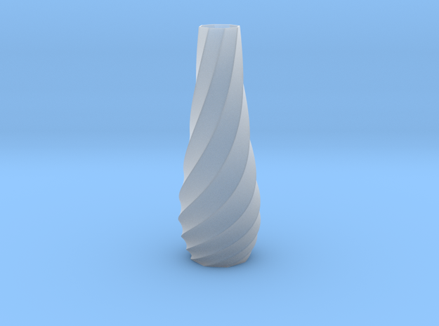 Spiral Vase in Smooth Fine Detail Plastic