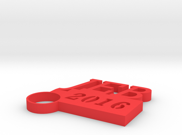 JEB Key Chain in Red Strong & Flexible Polished