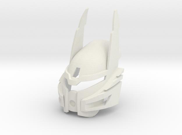 Bionicle Heroes style Kanohi Ignika in White Natural Versatile Plastic