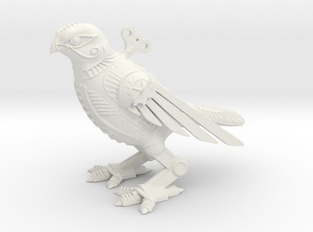 Horus Steampunk Falcon in White Natural Versatile Plastic