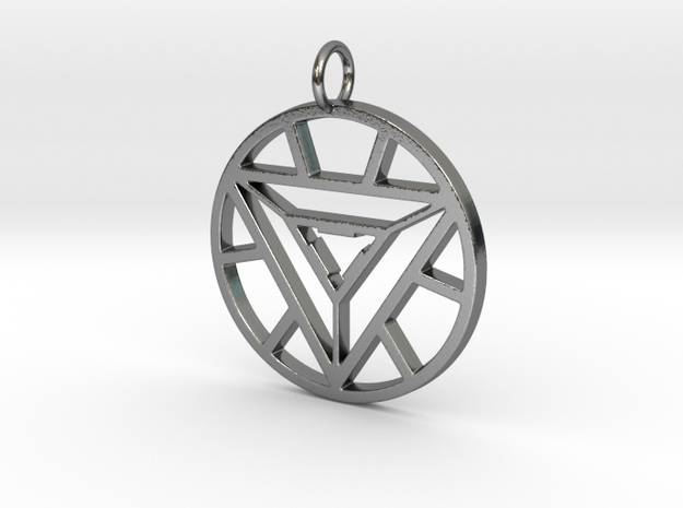 Iron Man Arc Reactor in Polished Silver