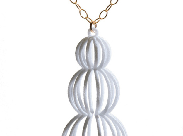 Mod Moire Pearl Pendant 3d printed