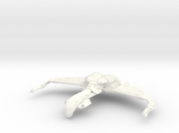 Romulan Bird Of War Refit HvyCruiser in White Strong & Flexible Polished