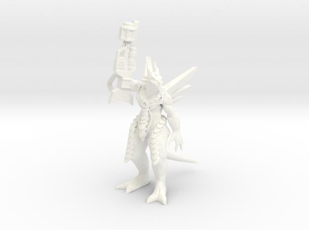 DrewgonGunPose in White Processed Versatile Plastic