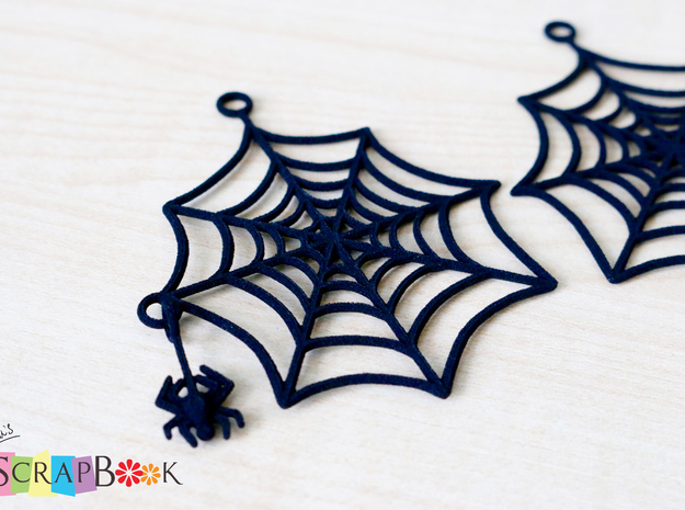 Swinging Spider Web Earrings in Black Strong & Flexible