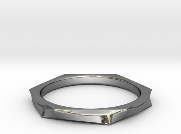 Chrome Wavy Ring in Premium Silver