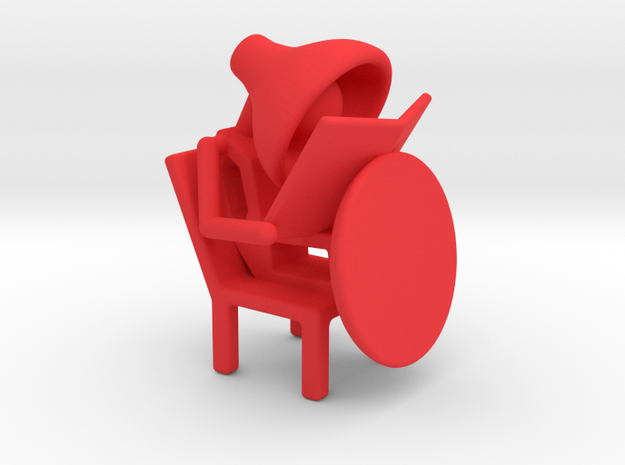 Lala - Reading book - DeskToys in Red Processed Versatile Plastic