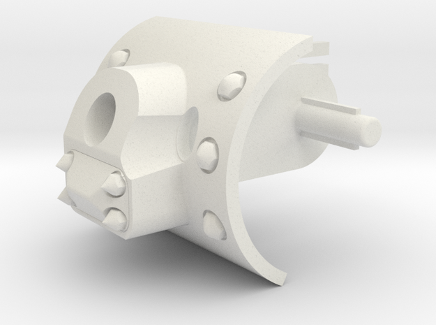 KV 1 Mod 42 Simp Gun Mantlet in White Natural Versatile Plastic