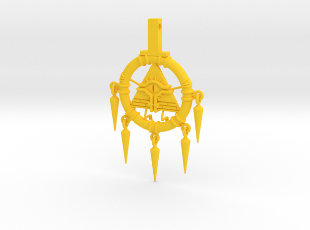 Billennium Ring (Gravity Falls x Yu-Gi-Oh!) in Yellow Processed Versatile Plastic