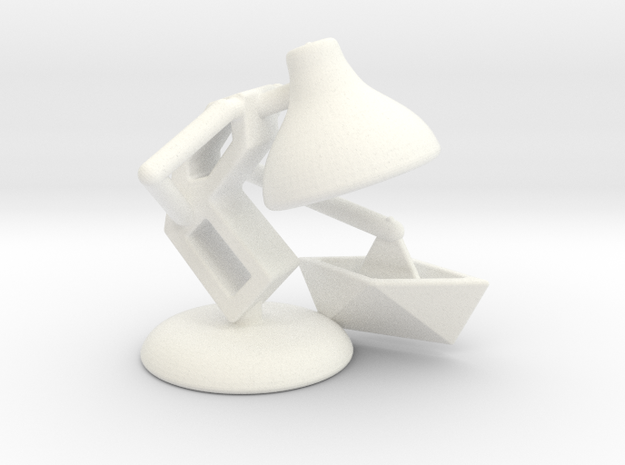 """JuJu - """"Playing with paper boat"""" - DeskToys in White Strong & Flexible Polished"""