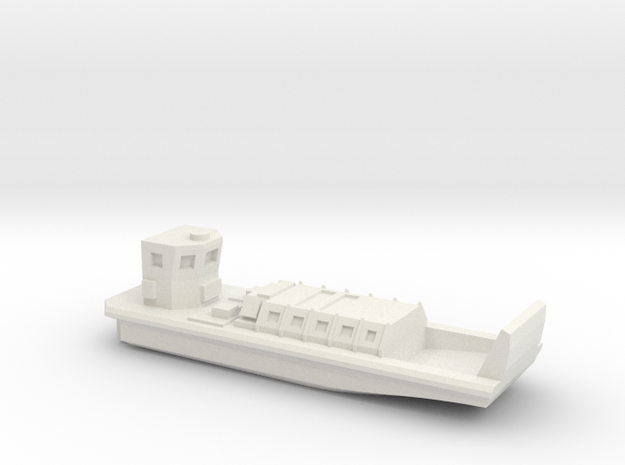 LCVP Mk5 in White Natural Versatile Plastic: 1:700