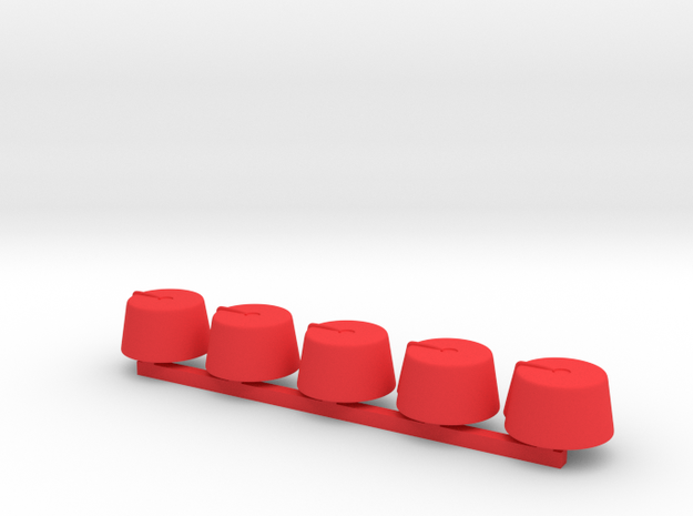 5 x Fez small in Red Strong & Flexible Polished