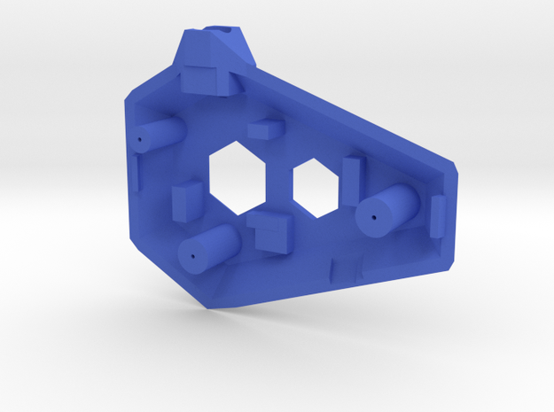 Ruby Enclosure Front - Part 1/2 in Blue Processed Versatile Plastic