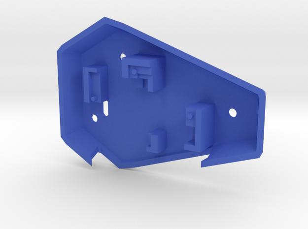 Ruby Enclosure Back - Part 2/2 in Blue Processed Versatile Plastic