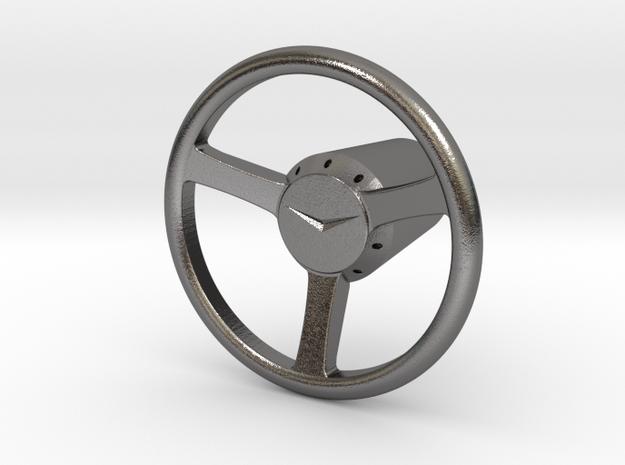 Shooter Rod Knob - v2 Cadillac Steering Wheel in Polished Nickel Steel