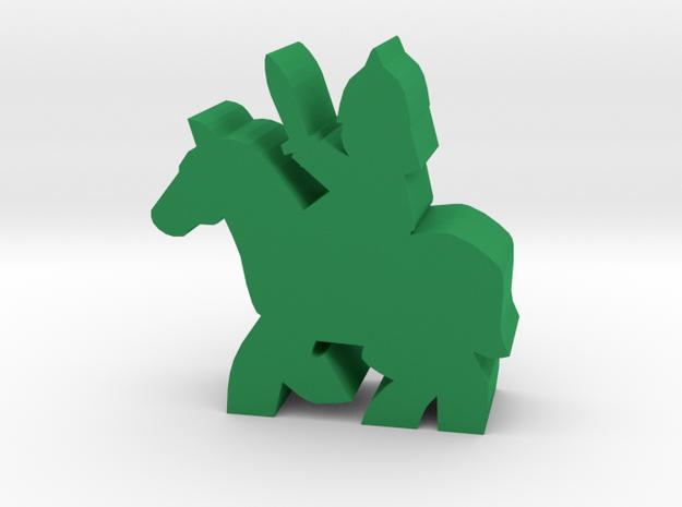 Saracen Warrior, on running horse. in Green Processed Versatile Plastic