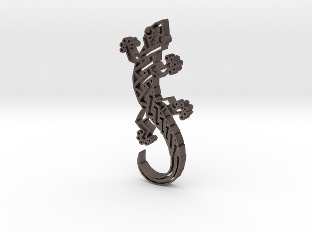 Lizard2b in Polished Bronzed Silver Steel