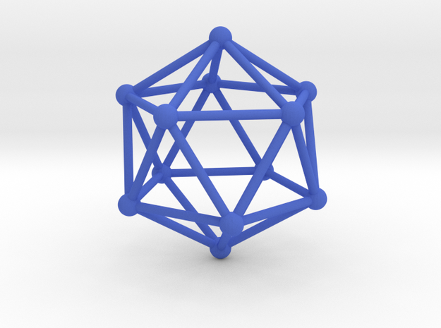 Solid Icosahedron  in Blue Strong & Flexible Polished