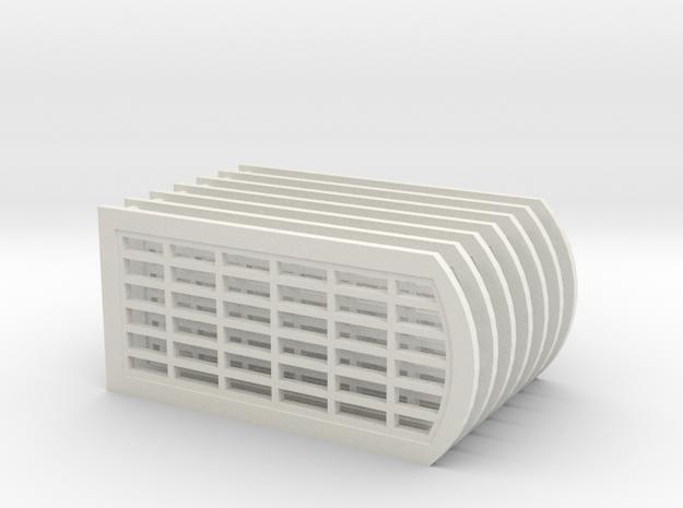 MR 6 x 6 Pane Water Tower Windows in White Natural Versatile Plastic
