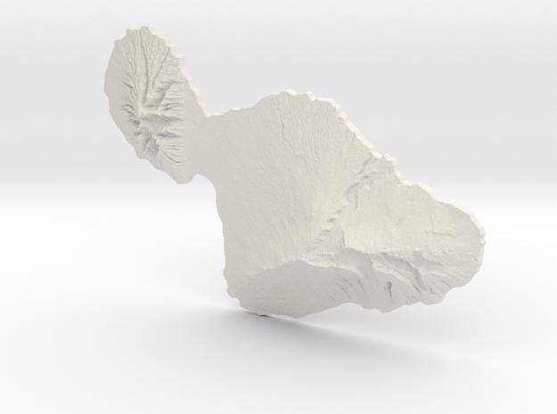 Maui, 1:500000, Navigator Series in White Natural Versatile Plastic