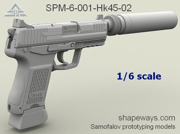 1/6 SPM-6-001-Hk45-02 H&K 45C suppressor version