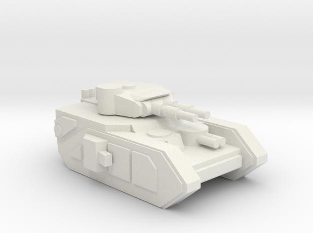 [5] Heavy Tank (Dual Cannon) in White Natural Versatile Plastic