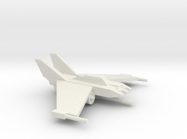 [5] Fighter-Interceptor in White Natural Versatile Plastic