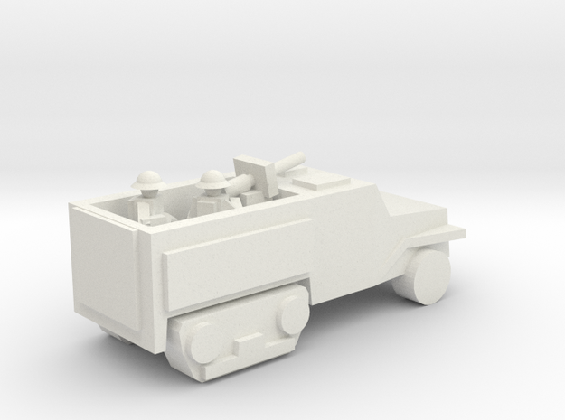 [5] Half-Track (AT Gun) in White Natural Versatile Plastic