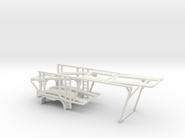 1/50 Car Hauler Front in White Natural Versatile Plastic