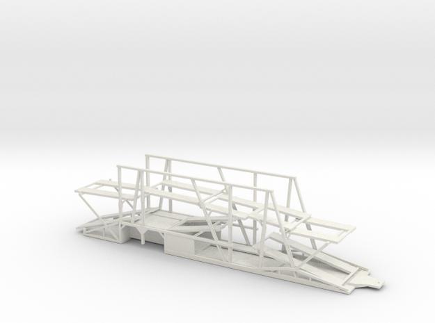 1/50 Car Hauler Trailer in White Natural Versatile Plastic