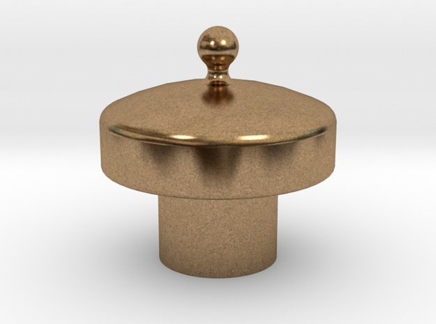 No. 23 Sand Dome Lid .625 Plus 1% in Natural Brass