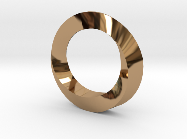 Spiral Ring in Polished Brass