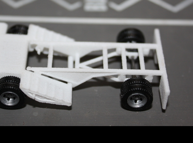 000035 Booster Axle HO 1:87 in White Natural Versatile Plastic: 1:87 - HO