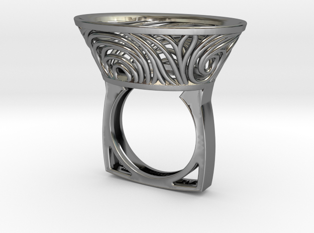 Constantina Contemporary - nest ring  in Fine Detail Polished Silver