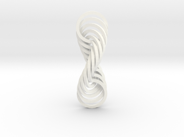 Circle Rainbowspin in White Processed Versatile Plastic