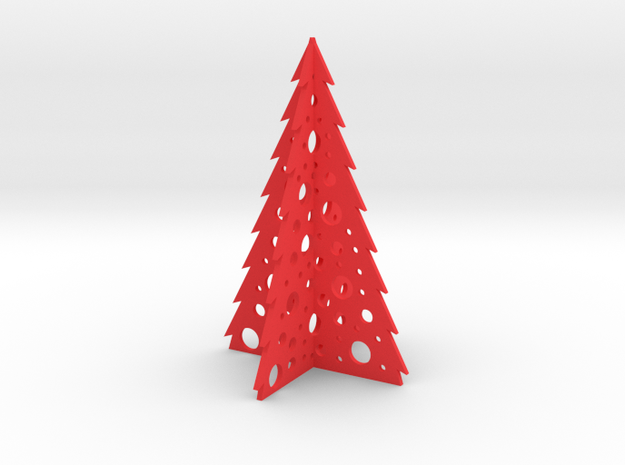 Christmas Tree in Red Processed Versatile Plastic