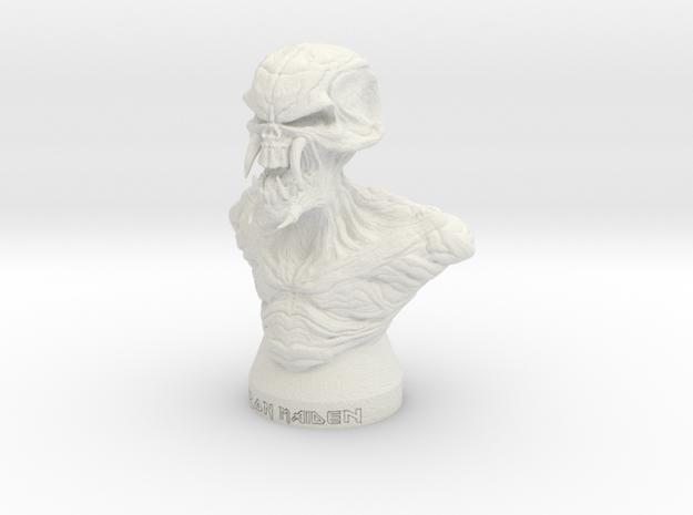 Iron Maiden Kranium in White Natural Versatile Plastic