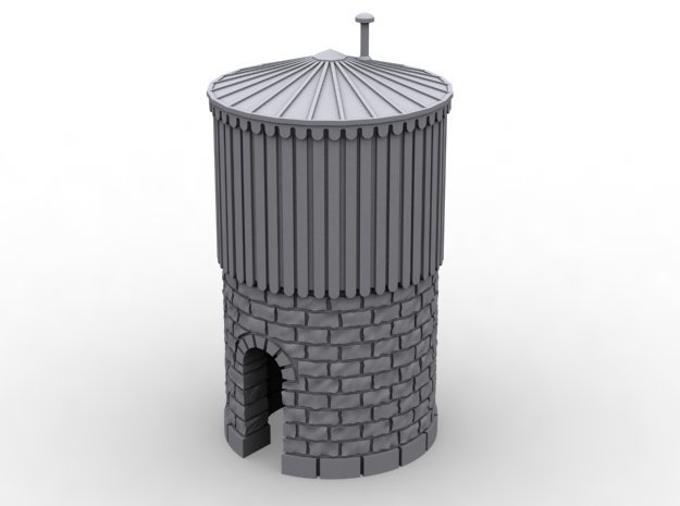NCE01 Water tower in White Natural Versatile Plastic