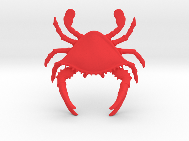 Crab Pen Holder in Red Processed Versatile Plastic