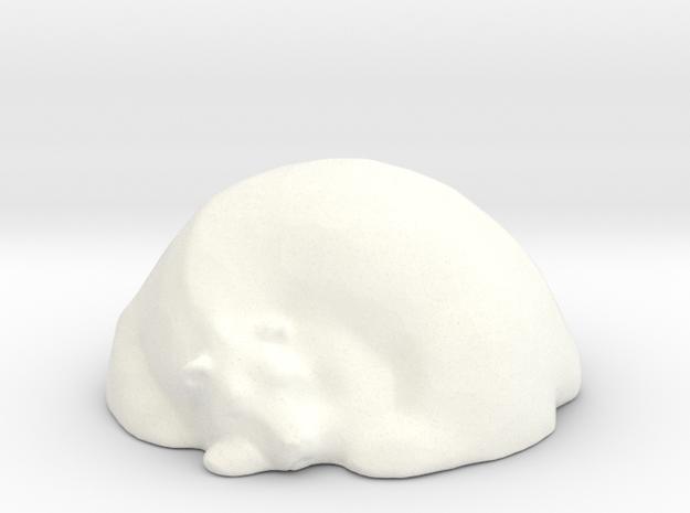 Sleepy Polar Bear  in White Processed Versatile Plastic