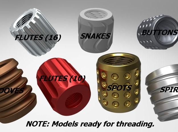 Custom Barrel Thread Protectors 3d printed Custom Shapes