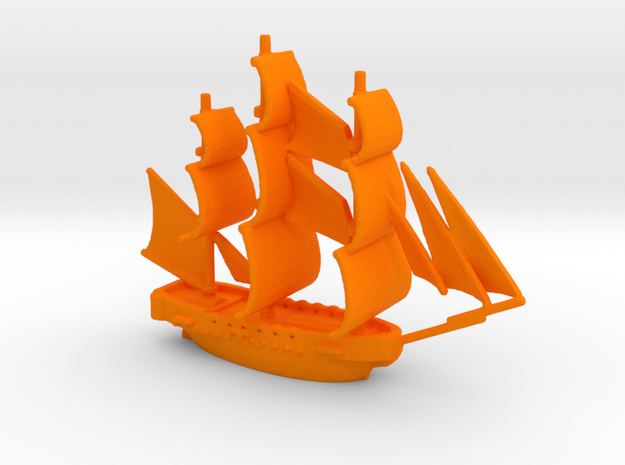 HMS Surprise ~1/1000 scale 3d printed