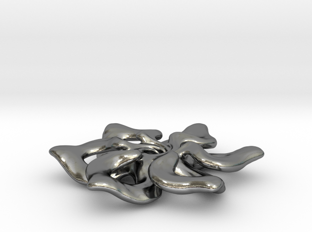 Confluence Pendant: Small in Polished Silver