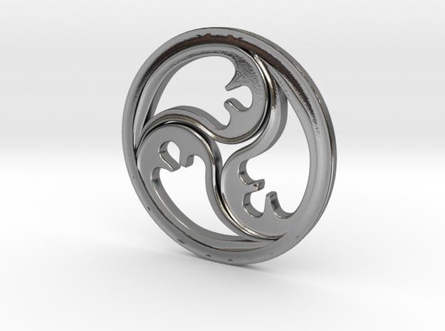 Triskele  in Polished Silver