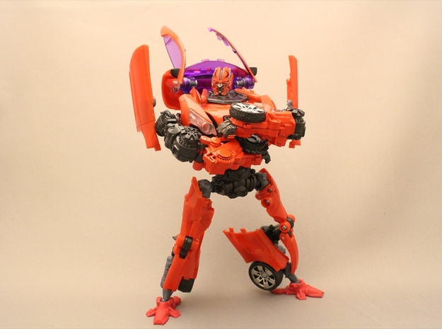 Autobot Dino Ankle Parts in Red Processed Versatile Plastic