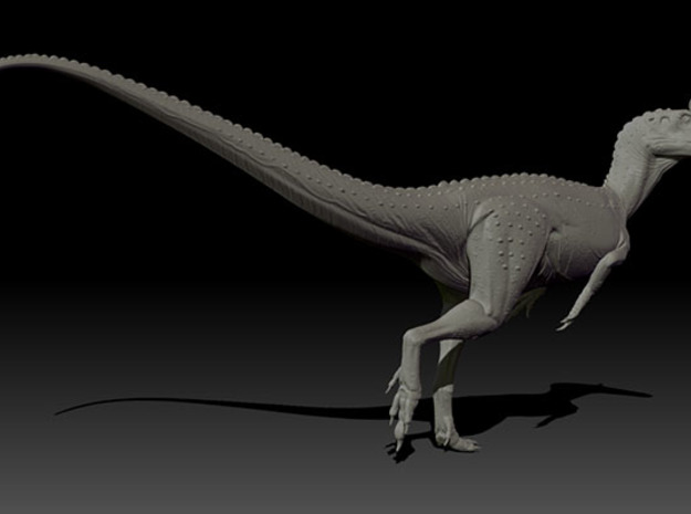 1/40 Cryolophosaurus - Walking in White Natural Versatile Plastic