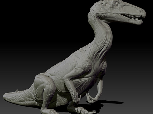 1/40 Cryolophosaurus - Sitting in White Natural Versatile Plastic