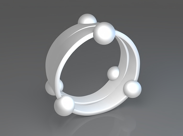 Floating ring - Split version 3d printed Floating ring - Split version