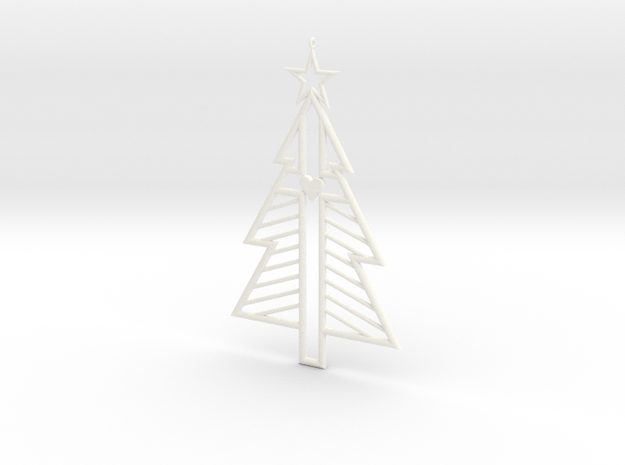 Christ-mas Tree in White Processed Versatile Plastic
